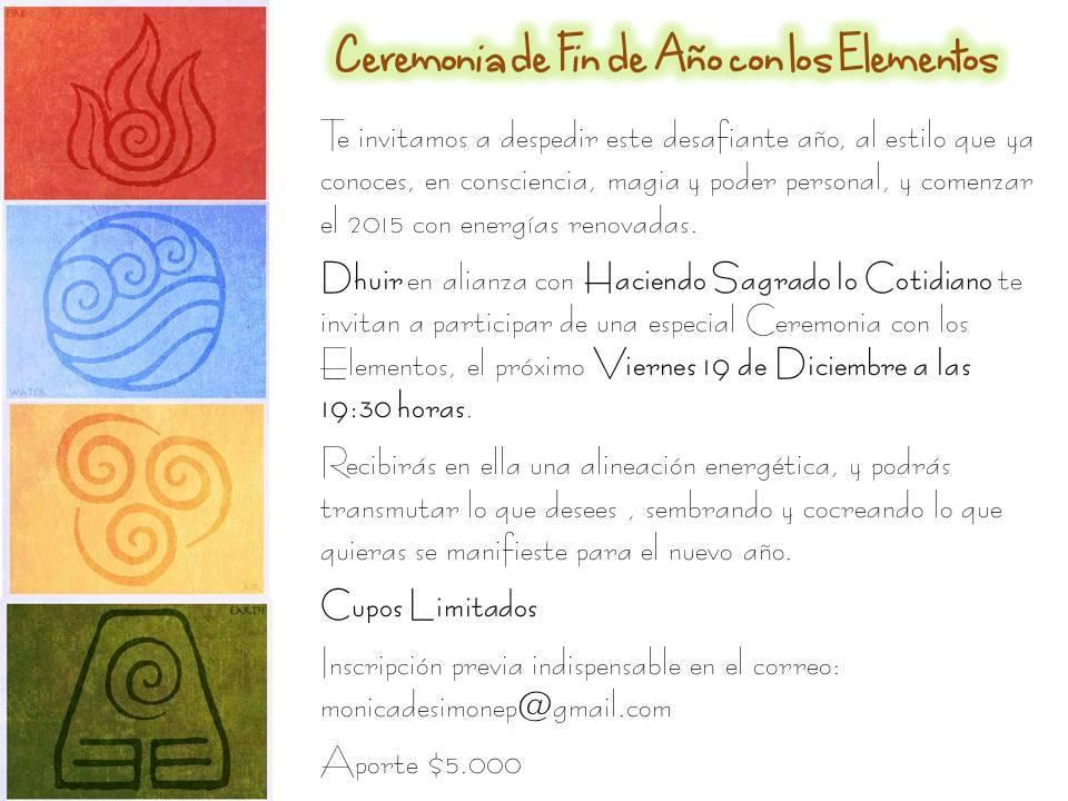 ceremonia elementos