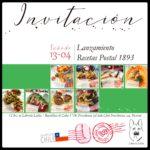 Invitación a Lanzamiento Recetas Postal 1893