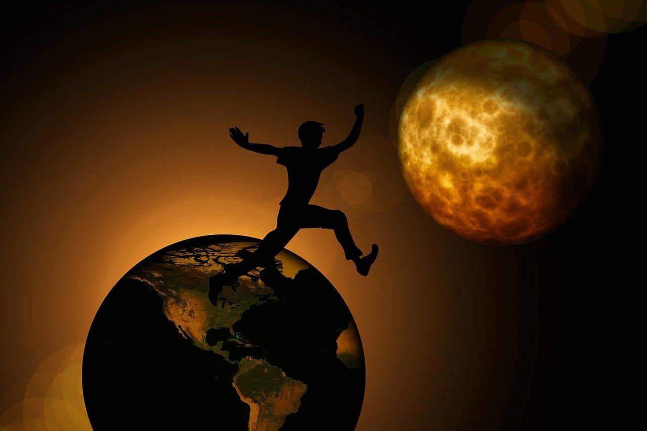 En medio del salto hacia el nuevo mundo